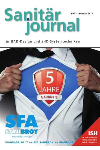 SanitärJournal - Heft 1, Februar 2017 SanitärJournal - Heft 1/2017