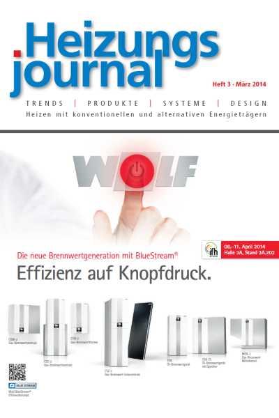 HeizungsJournal – Heft 3 2014 Heft 3 2014
