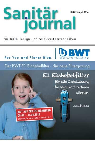 SanitärJournal – Heft 2 2014 Heft 2 2014