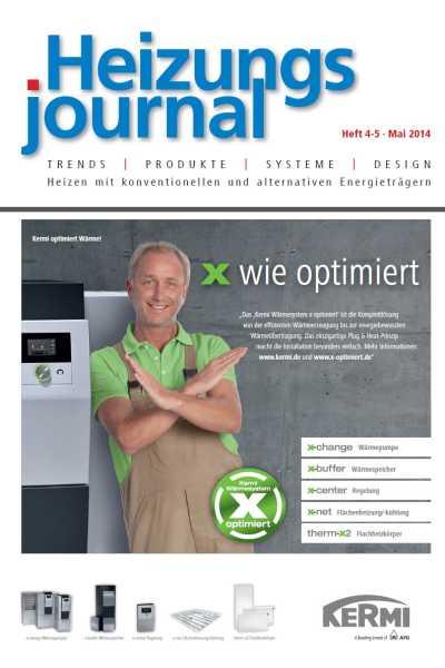 HeizungsJournal – Heft 4/5 2014 Heft 4/5 2014