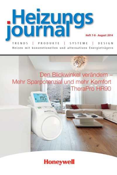 HeizungsJournal – Heft 7/8 2014 Heft 7/8 2014