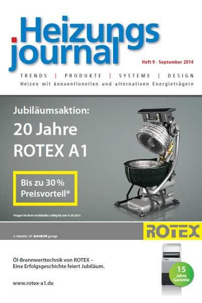 HeizungsJournal – Heft 9, September 2014 HeizungsJournal – Heft 9/2014