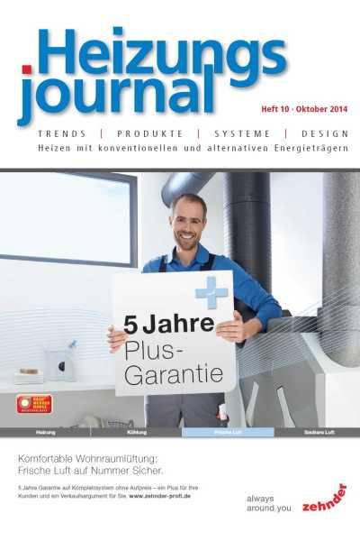 HeizungsJournal – Heft 10, Oktober 2014 HeizungsJournal – Heft 10/2014
