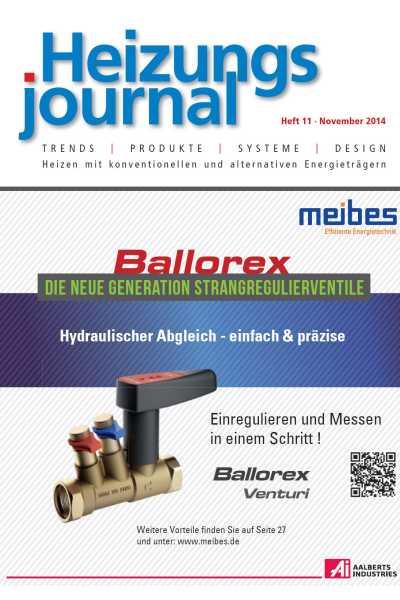 HeizungsJournal – Heft 11, November 2014 HeizungsJournal – Heft 11/2014