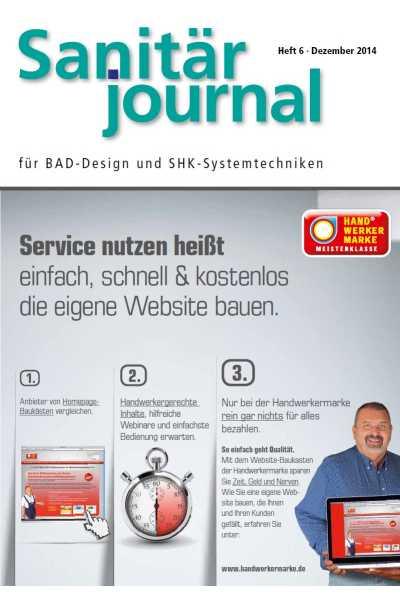 SanitärJournal – Heft 6, Dezember 2014 SanitärJournal – Heft 6/2014