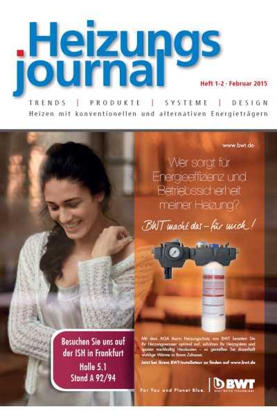 HeizungsJournal – Heft 1/2 2015 Heft 1/2 2015