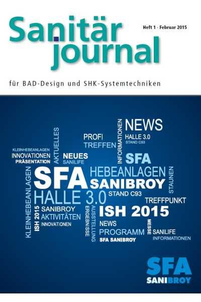 SanitärJournal – Heft 1 2015 Heft 1 2015