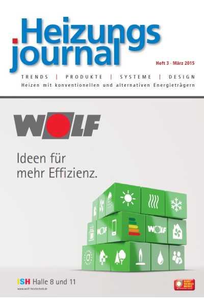 HeizungsJournal – Heft 3 2015 Heft 3 2015
