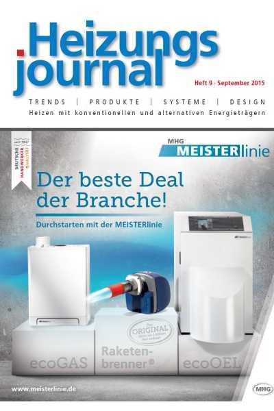 HeizungsJournal – Heft 9, September 2015 HeizungsJournal – Heft 9/2015