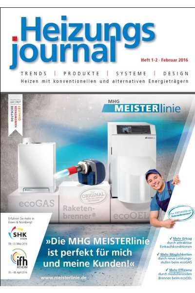 HeizungsJournal – Heft 1/2 2016 Heft 1/2 2016