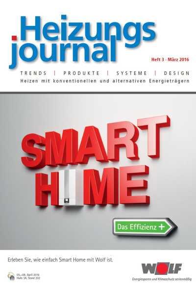 HeizungsJournal – Heft 3 2016 Heft 3 2016