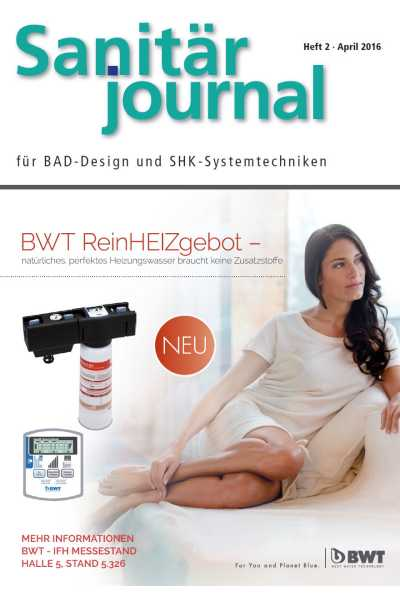 SanitärJournal – Heft 2, April 2016 SanitärJournal – Heft 2/2016
