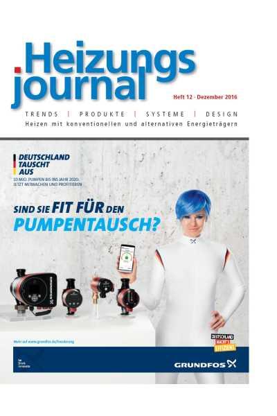 HeizungsJournal - Heft 12  Heft 12 2016