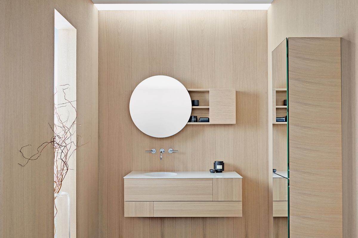 204e15e5c28537 Edler Blickfang im Bad  Designer setzen auf runde Formen ...