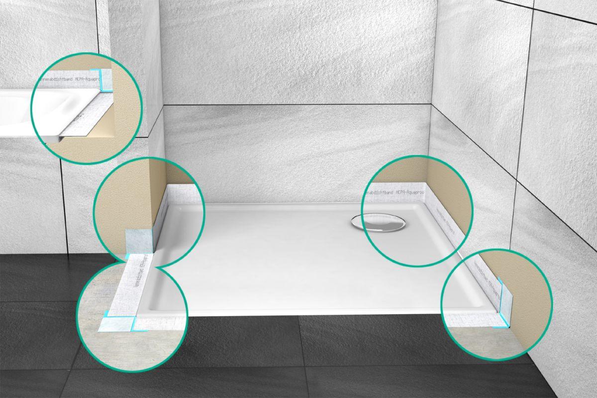duschwanne abdichten ohne silikon. Black Bedroom Furniture Sets. Home Design Ideas