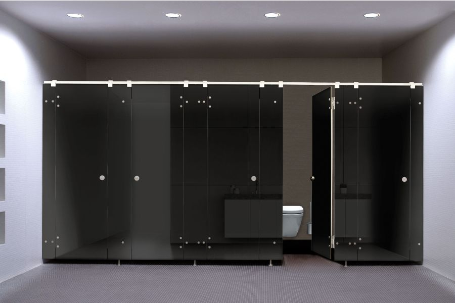 Das WC-Trennwandsystem