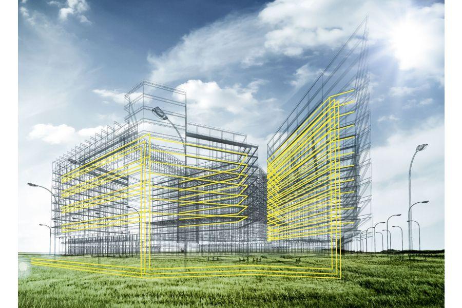 Die parametrischen BIM-Daten von Viega werden für die Planung im digitalen Gebäudemodell eingesetzt.