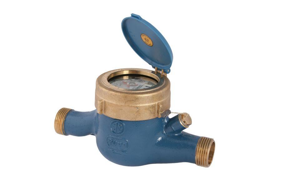 Foto eines Hauswasserzählers.