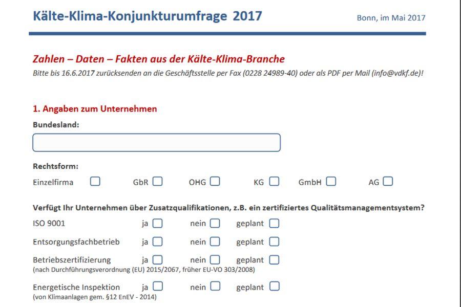Die Grafik zeigt einen Ausschnitt des Fragebogens als Screenshot.