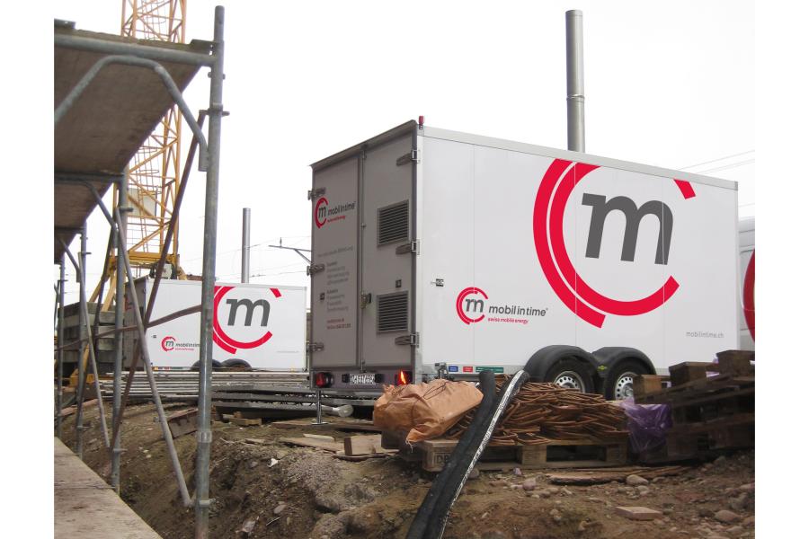 Eine mobile Warmwasser-Heizzentrale von Mobil in Time.