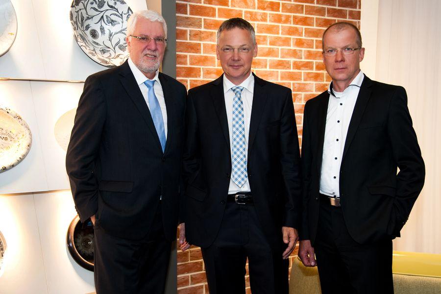 Das Bild zeigt Uwe Grahl, Felix Grönwaldt und Jörg Soyka.