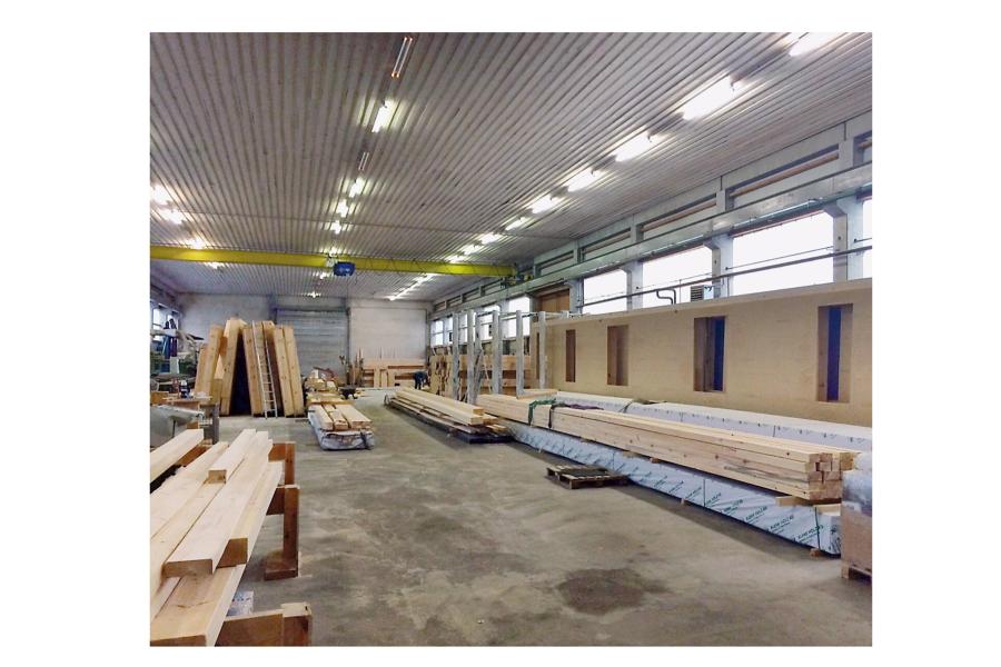 Vorgefertigt und auf der Baustelle montiert bringt kürzere Bauzeiten.