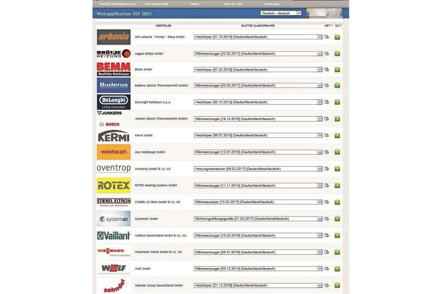 Screenshot der Startseite der Webapplikation.