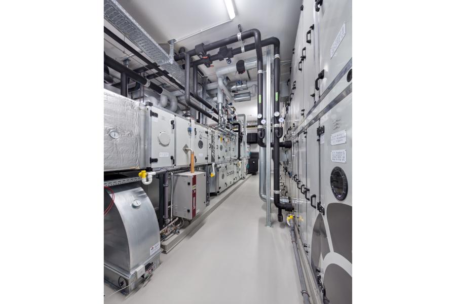 Eine Luftzentrale für die Raumlufttechnik.