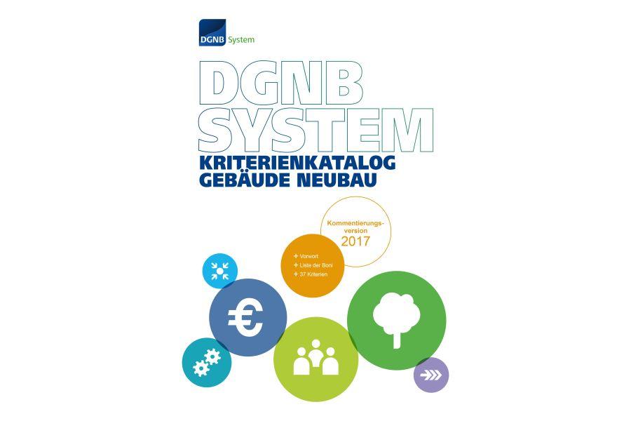 Das Cover der Kommentierungsversion des DGNB-System-Kriterienkatalogs.