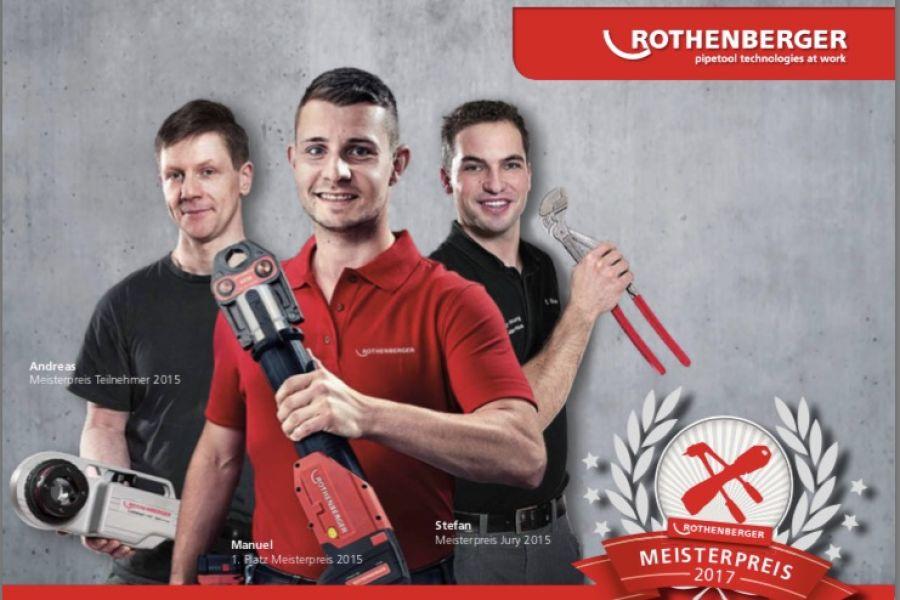 Das Bild zeigt das Werbebild des Rothenberger Meisterpreises 2017.