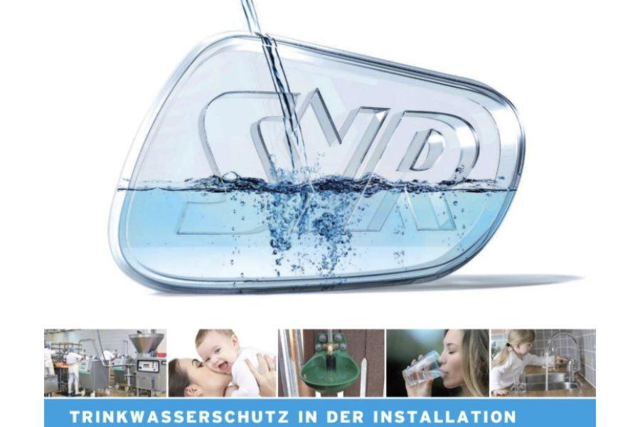"""Das Bild zeigt den SYR-Leitfaden """"Die richtige Absicherung von Trinkwasserinstallationen."""""""
