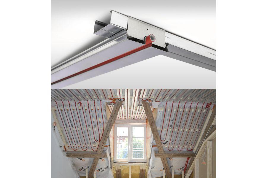 Das Klimatop-System an einer Dachschräge angebracht.