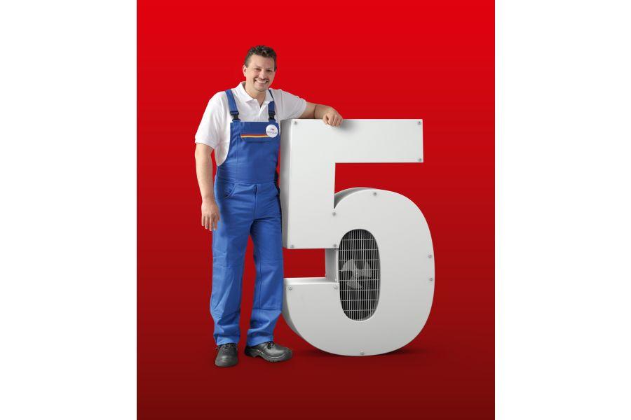 Werbung für die 5-Jahres-Garantie bei