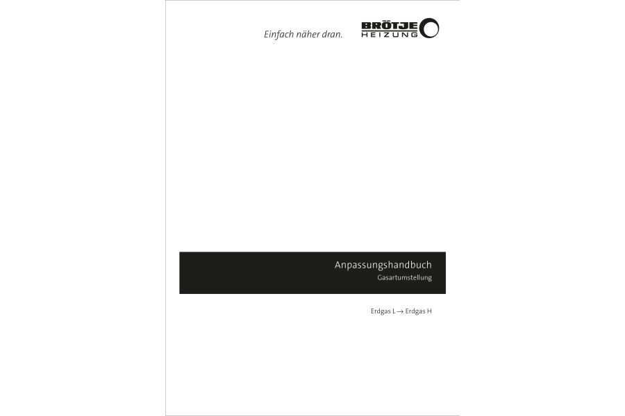Das Cover des Anpassungshandbuchs zur Gasumstellung.