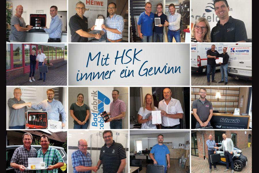 Das Bild zeigt die Gewinner des HSK-Gewinnspiels.