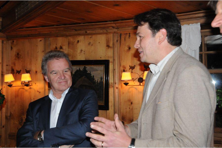 Kamingespräch zwischen Philipp Vohrer, Geschäftsführer der Agentur für Erneuerbare Energien, und dem baden-württembergischen Umweltminister Franz Untersteller (Grüne).
