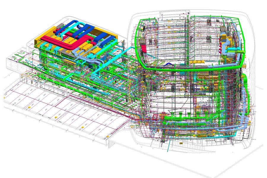 Das BIM-Gebäudemodell des Hilton Airport Schiphol Hotels.