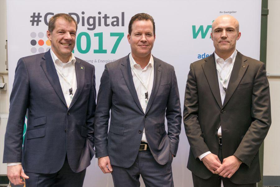 Das Bild zeigt Dr. Carsten Voigtländer, Oliver Hermes und Dr. Thomas Schlenker.