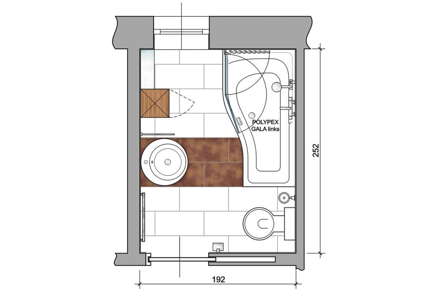 """Für spezielle Raumsituationen gibt es speziell geformte Wannen. Die Polyplex """"Gala""""-Wanne schafft Platz, wo er gebraucht wird."""