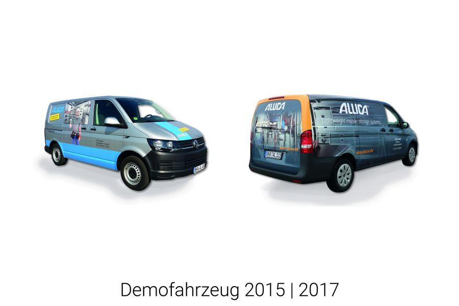 Zwei Demofahrzeuge von Aluca.