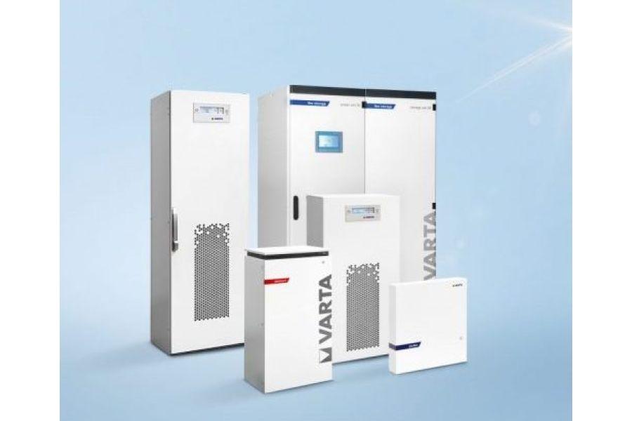 Die Produktfamilie der Varta-Energiespeichersysteme.