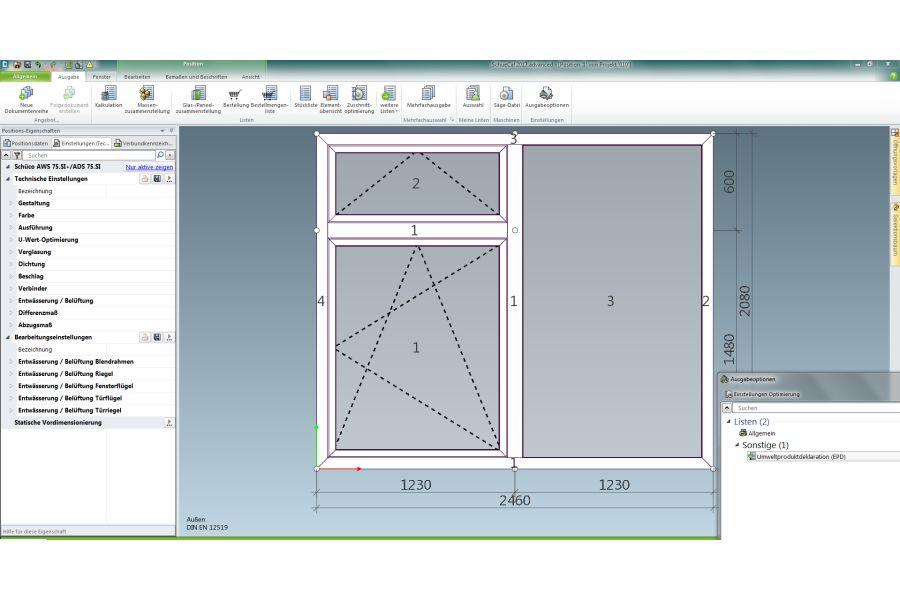 Screenshot der Software
