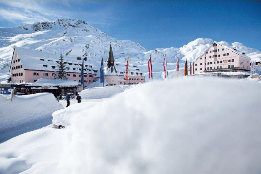 Das Arlberg Hotel in St. Christoph.