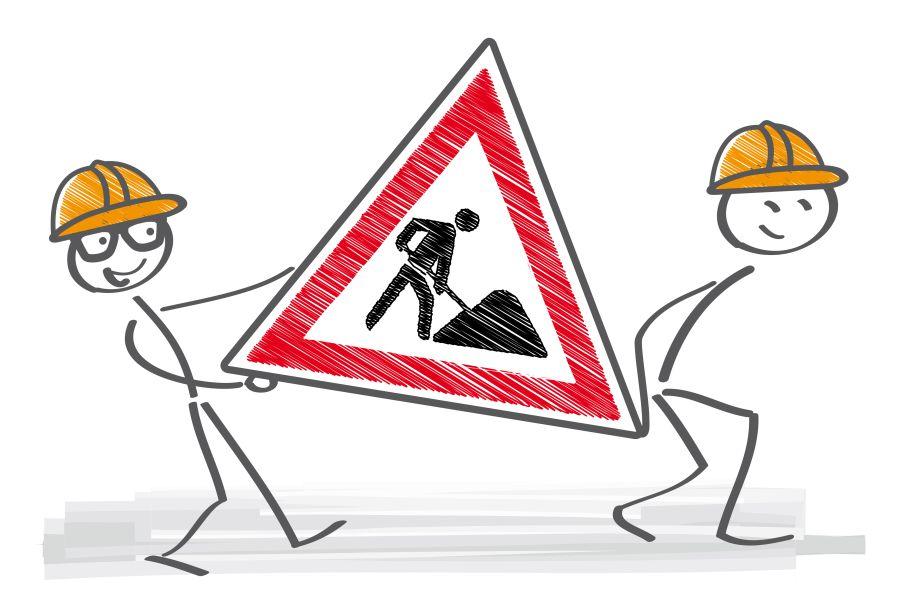 Clipart mit Baustellen-Symbol
