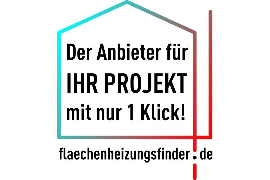 Info-Bild zum Flächenheizungsfinder des BVF.