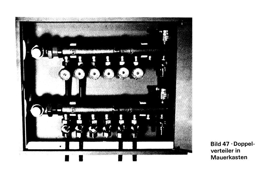 Verteiler für die Fußbodenheizung von 1975