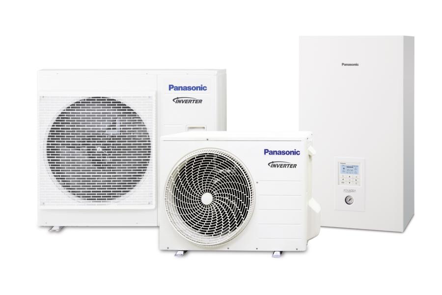 "Wärmepumpen-Serie ""Aquarea H"" von Panasonic."
