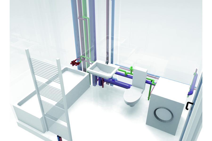 Die 3D-Ansicht ermöglicht eine besonders realistische Darstellung und eine genaue Prüfung der geplanten Bauteile und Installationen.