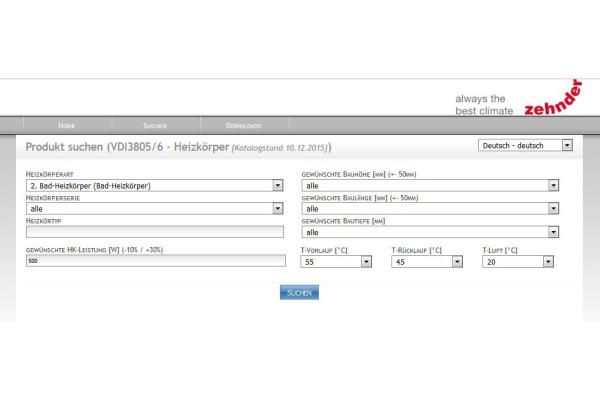 Zehnder Heizkörper-Produktdaten jetzt für BIM verfügbar