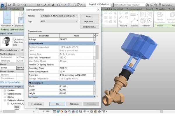 Oventrop stellt BIM-Produktdaten im Revit- und VDI3805-Format zur Verfügung